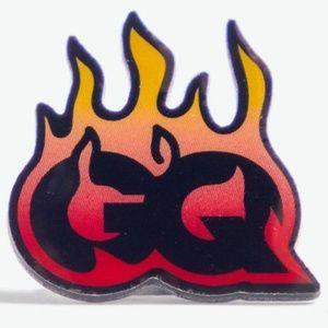 Pintrill X GQ Pin Flame Fire